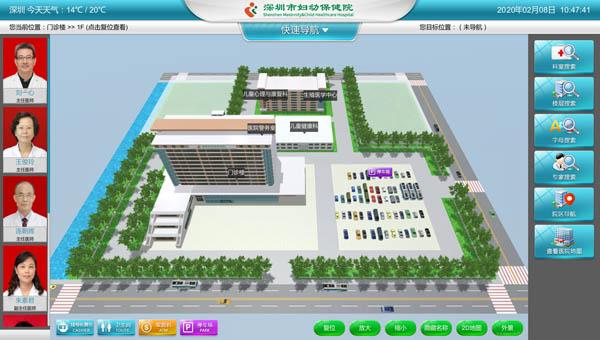 医院便民服务3D互动电子导览系统
