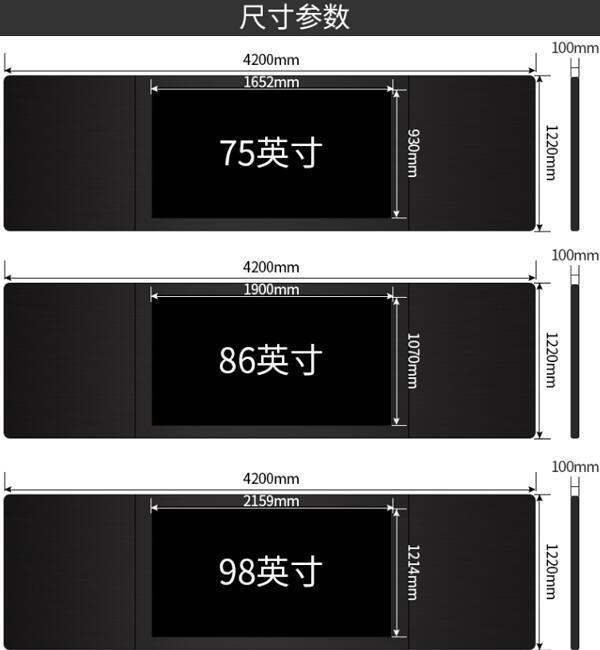 纳米黑板尺寸参数图