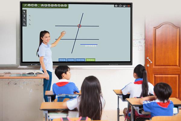 98英寸壁挂式教学一体机安装效果图