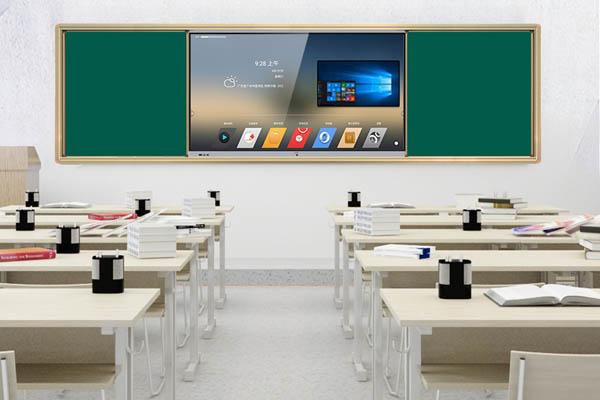 组合式推拉黑板多媒体教学触摸一体机