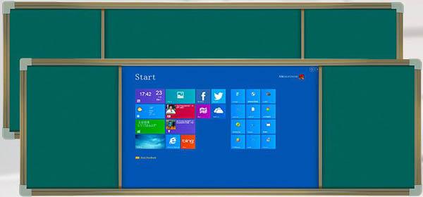组合式推拉黑板教学一体机