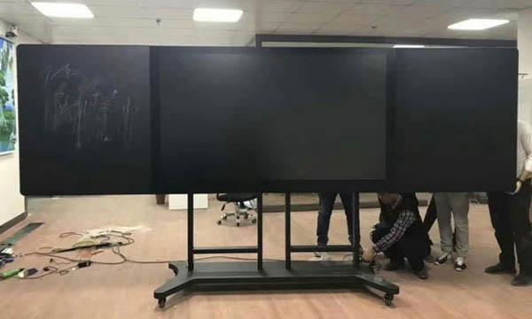 落地式纳米黑板安装图片