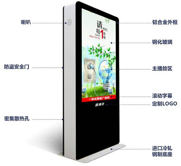 户外立式广告机硬件说明