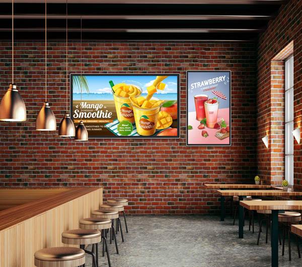 横竖屏壁挂式液晶广告机