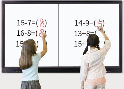 教学触摸一体机为什么要把按键和按钮设置在前面