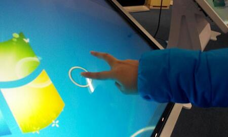食指单击屏幕