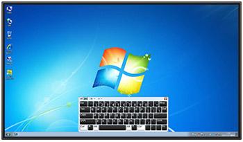 多媒体教学一体机如何调出自带的屏幕虚拟键盘