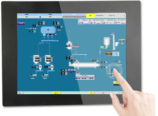 10-22寸全封闭式PLC电阻屏工业触控一体机